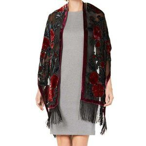 INC | velvet sparkle shawl wrap scarf